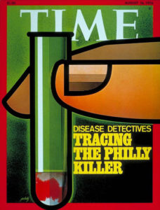 histoire du nom de la maladie du legionnaire, tracing the philly killer couverture du magazine TIme